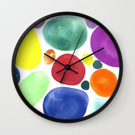colorful mess Wall Clock