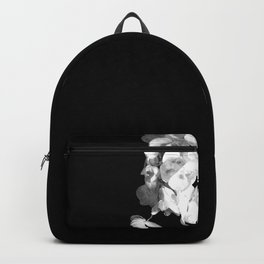 White Orchids Black Background Backpack