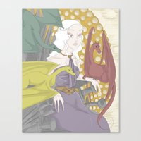 daenerys Canvas Prints featuring Daenerys (2013) by mothroot