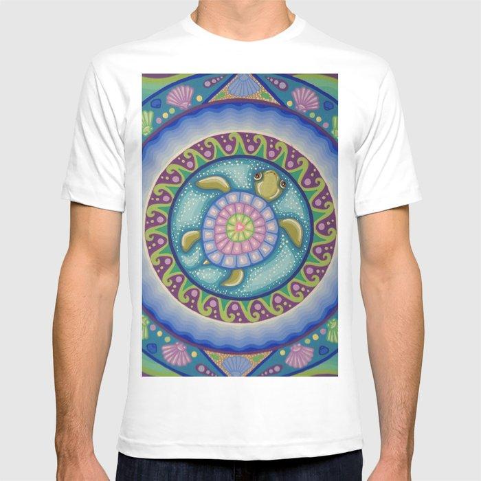 629346fb Little Turtle Mandala T-shirt by sooziewray | Society6