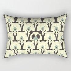 Panda and bears seamless cartoon pattern Rectangular Pillow