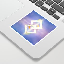 Linked Lilac Diamonds :: Floating Geometry Sticker