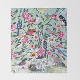Bird Vines Throw Blanket