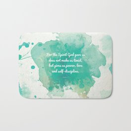 2 Timothy 1:7, Inspiring Bible Verse Bath Mat