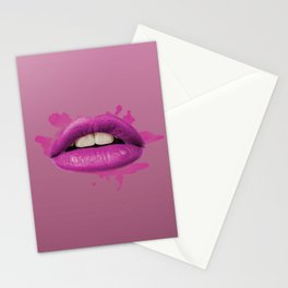 Purple Lips Stationery Cards