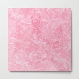 Rosy Scales Marble Texture Metal Print