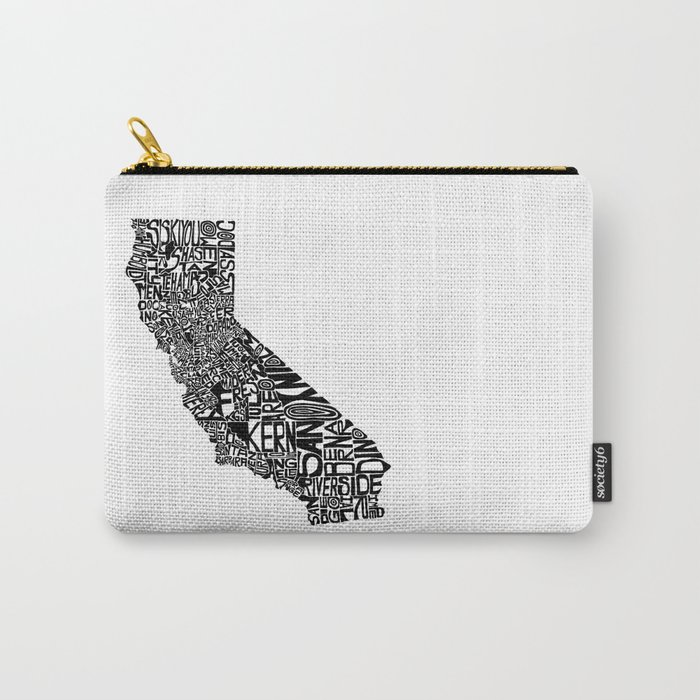 Typographic California Carry-All Pouch