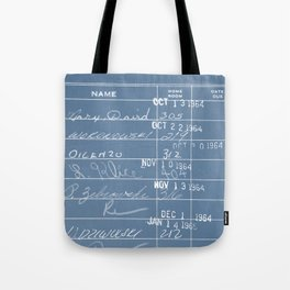 Library Card 23322 Negative Blue Tote Bag