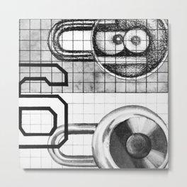 six Metal Print