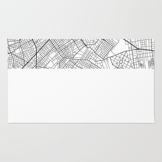 The Streets of Montevideo Map Rug