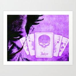 Purple Jokester Art Print