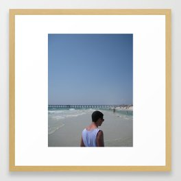 Man in the Middle Framed Art Print