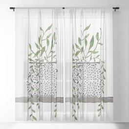 Vase 2 Sheer Curtain