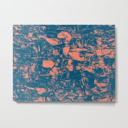 Abstract Copper Navy Metal Print