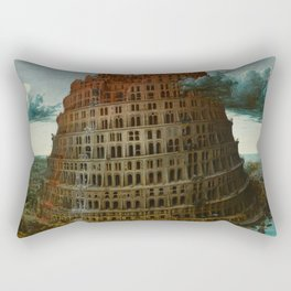 The Tower of Babel by Pieter Bruegel the Elder Rectangular Pillow