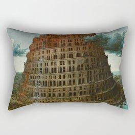 The Tower of Babel by Pieter Bruegel the Elder Rectangular Pillow
