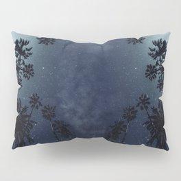 Palm Trees, Night Sky, Stars, Moon Pillow Sham