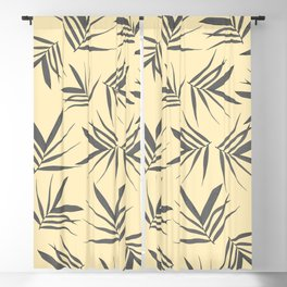 Exotic leaves pattern 37 Blackout Curtain