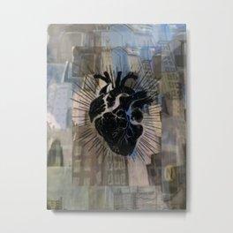 Black Heart of the City Metal Print