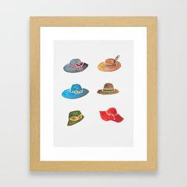Crazy hat lady Framed Art Print