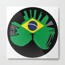 Rio de Janeiro looks like ring Metal Print