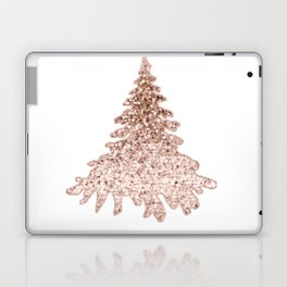 Sparkling christmas tree rose gold ombre Laptop & iPad Skin