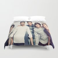 one direction Duvet Covers featuring One direction by kikabarros