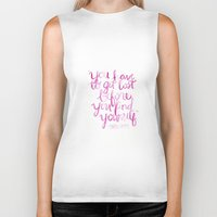 paper towns Biker Tanks featuring Paper Towns Quote by mekaylanicole