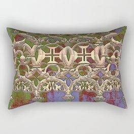 Gothic tracery. Batalha Rectangular Pillow