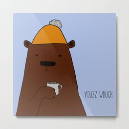Cold bear Metal Print