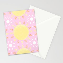 Sun Tiles (Pig Pink) Stationery Cards