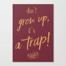 don't Grow up - Humour Illustration Canvas Print