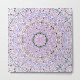 Marbled Pastel Mandala Metal Print