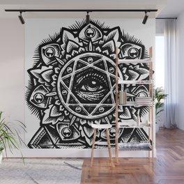 Eye of God Flower Wall Mural