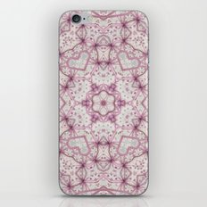 Vintage Raspberry Pink and Paris Gray Earth Mandala with Hearts iPhone & iPod Skin
