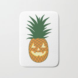 Carved Pineapple Hawaiian Halloween Bath Mat