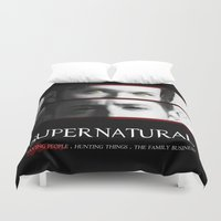 winchester Duvet Covers featuring The Winchester Brothers by Sarah Sangelus
