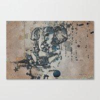 ganesha Canvas Prints featuring Ganesha by Barbara Storey Digital Art