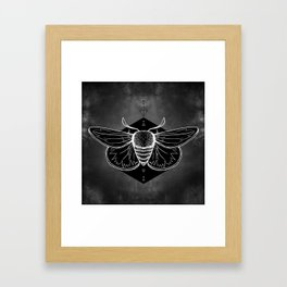 Moth Vignette Framed Art Print