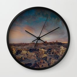 Exploring the Bisti Badlands of New Mexico Wall Clock
