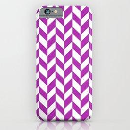 Herringbone (Purple & White Pattern) iPhone Case
