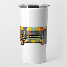 Autism Awareness School Bus Travel Mug