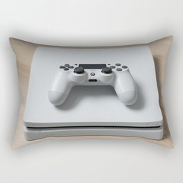 Sony PlayStation 4 Slim Glacier White game console Rectangular Pillow