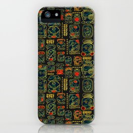 Maya Calendar Glyphs pattern iPhone Case