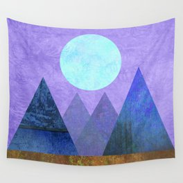 Take Me Away, Mountains, Full Moon Wall Tapestry