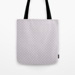Simple light purple, white pattern. Tote Bag
