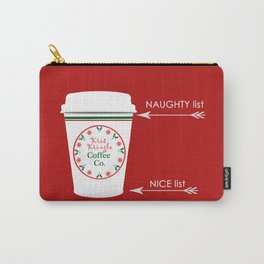 Christmas Naughty Nice Coffee Cup Carry-All Pouch