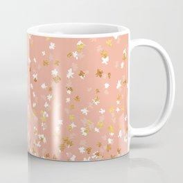 Floating Confetti - Peach and Gold Coffee Mug