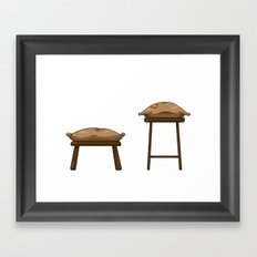 Chairs and Pillows Framed Art Print