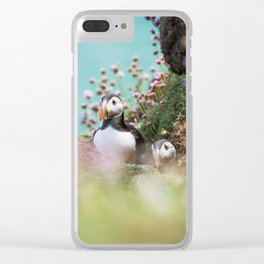 RR(288) Puffins Clear iPhone Case